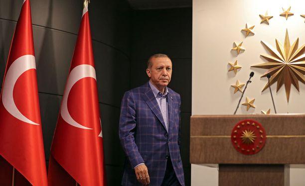 Turkin presidentti Recep Tayyip Erdogan.