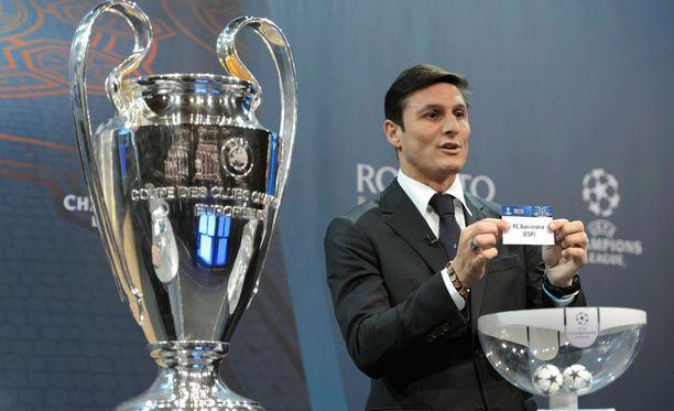 Javier Zanetti arpoi kahdeksan otteluparia Mestarien liigan kevätkierrokselle.