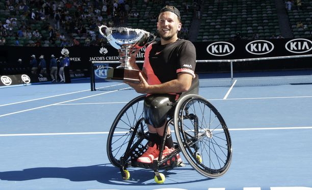 Alcott voitti pyörätuolitenniksen Australian avointen miesten kaksinpelin viimeksi tänä vuonna.