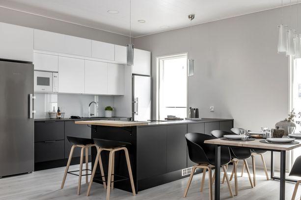 Hyvin suunnittellussa keittiössä on helppo työskennellä.