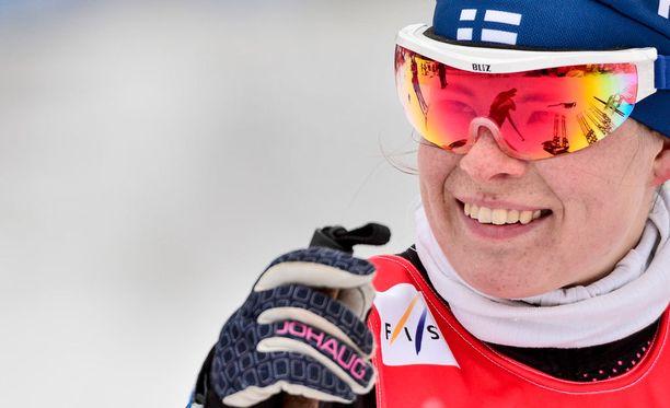 Krista Pärmäkoski oli omassa luokassaan viikonloppuna Rovaniemellä.