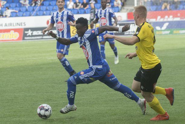 Evans Mensah teki maalin, mutta HJK taipui tasapeliin.