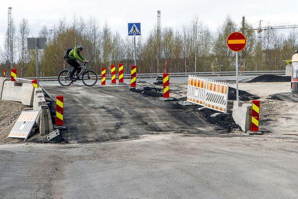 Valtatie nelosta peruskorjattiin Rovaniemen kohdalla toukokuussa 2016.