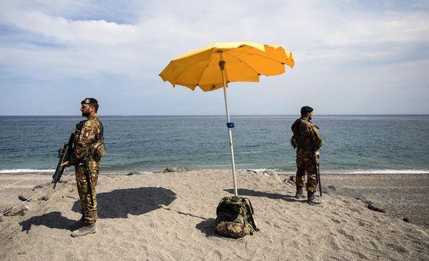 Sisiliassa valmistauduttiin viikonlopun G7-kokoukseen tarkoilla turvatoimilla.