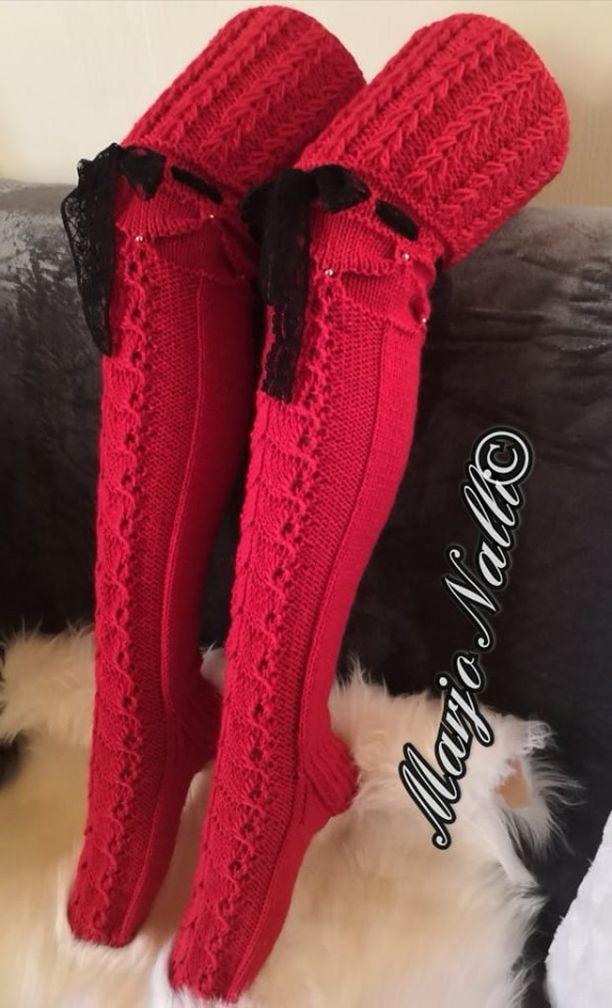 Nämä Marjo Nallin suunnittelemat ja neulomat sukat hurmasivat somen. Tykkäyksiä on liki 6000!