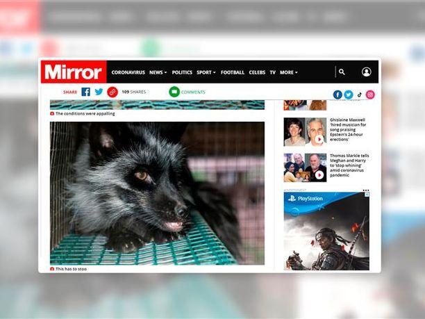 Mirror on kampanjoinut turkisvapaan Ison-Britannian puolesta jo useita vuosia. Ruutukaappaus verkkosivuilta.