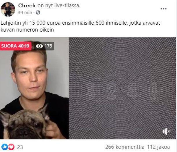 Facebookissa Cheekin nimissä pyörii huijaus.