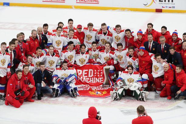 Helsingissä Venäjän nuori joukkue valmistautui vuodenvaihteessa järjestettäviin alle 20-vuotiaiden MM-kisoihin.
