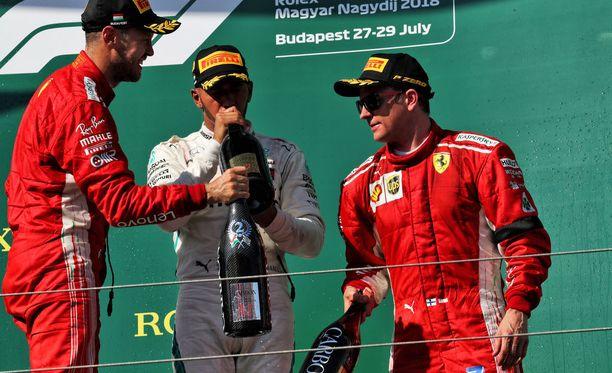 Sebastian Vettelin menestyminen ei ole muuttanut häntä Kimi Räikkösen sanojen mukaan.