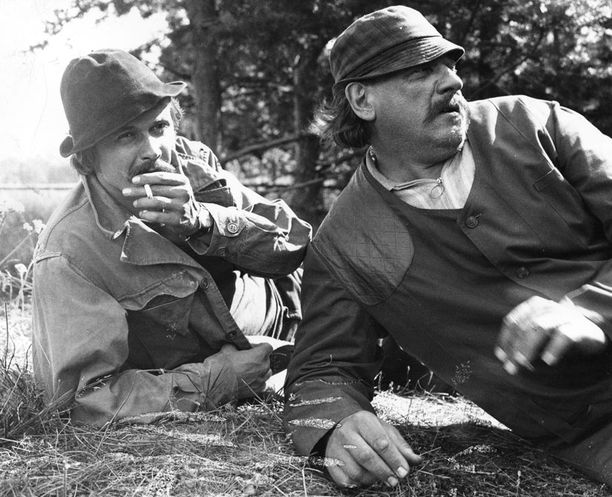 Heikki Kinnunen ja Leo Lastumäki Lampaansyöjissä vuonna 1972.
