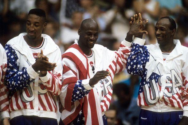 Dream team (Scottie Pippen, Michael Jordan ja Clyde Drexler)