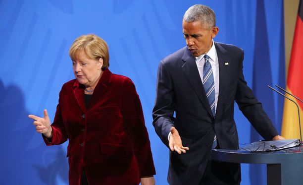 Angela Merkel ja Barack Obama ilmoittivat Ttip-sopimuksen kariutumisesta torstaina Berliinissä.