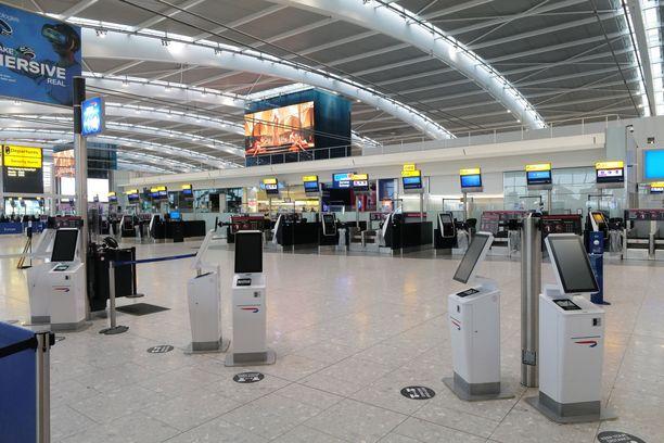 Lontoon Heathrow'n lentokentällä oli hiljaista marraskuussa.