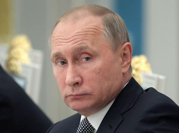Vladimir Putin piti mahtailevan puheen Moskovan Krelmissä.