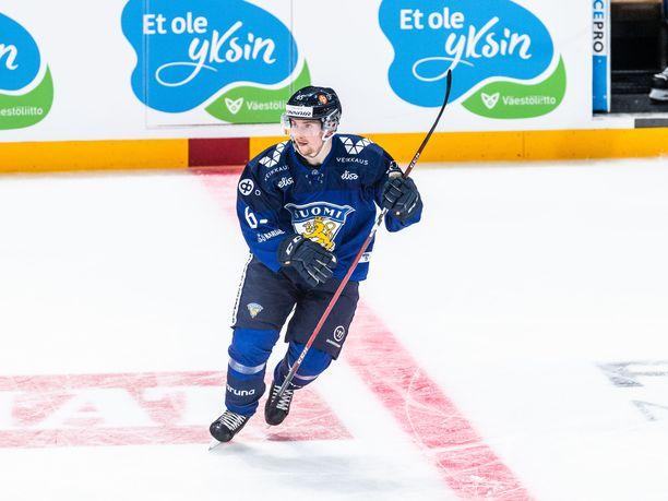 Sakari Manninen on ollut Suomen parhaita pelaajia MM-kisoissa.