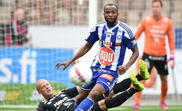 Ousman Jallow puski HJK:n voittomaalin.