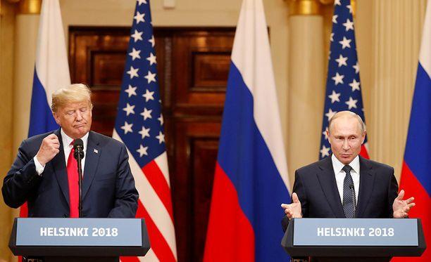 Trump tapasi Putinin Helsingissä maanantaina 16.7.