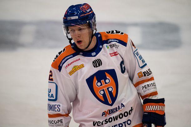Otto Rauhala on Tapparan uusi kapteeni.