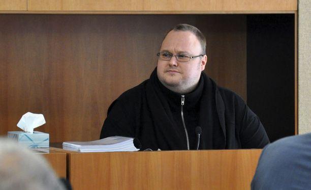 Kim Dotcom oikeudessa vuonna 2016.