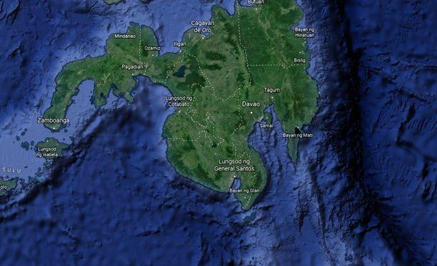 Järistys tapahtui lähellä Davaon kaupunkia Mindanaon saarella.
