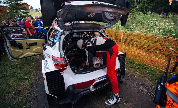 Jari-Matti Latvalan autoon tuli sähkövika, ja EK19 jäi kesken.