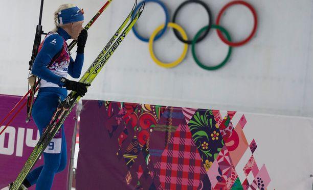 Kaisa Mäkäräisen olympiaurakka päättyi rajuun pettymykseen.