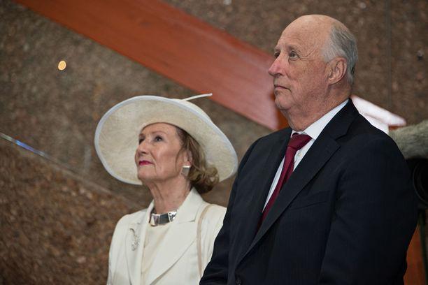 Kuningas Harald V ja kuningatar Sonja vierailivat Suomessa vuonna 2017.