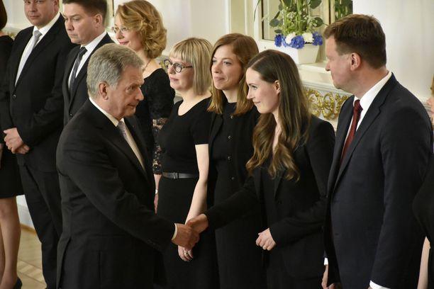 Presidentti Sauli Niinistö ja pääministeri Sanna Marin vaihtoivat viestejä.