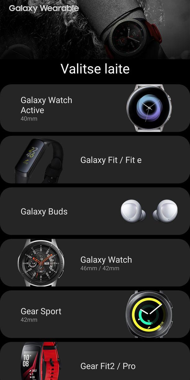 Uudet laitteet näkyvät sovelluksessa.