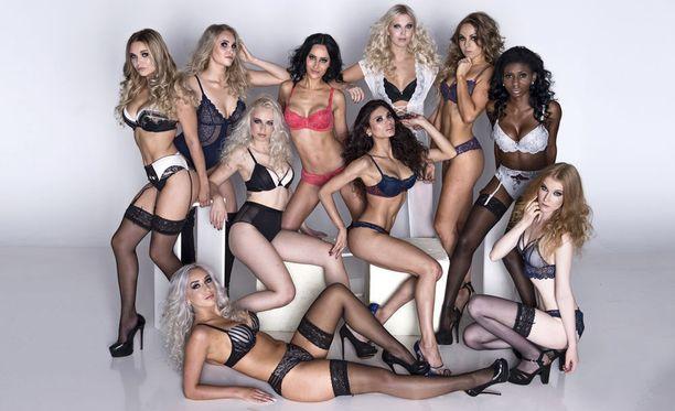 Vuoden 2017 Miss Helsinki on joku näistä kaunottarista.