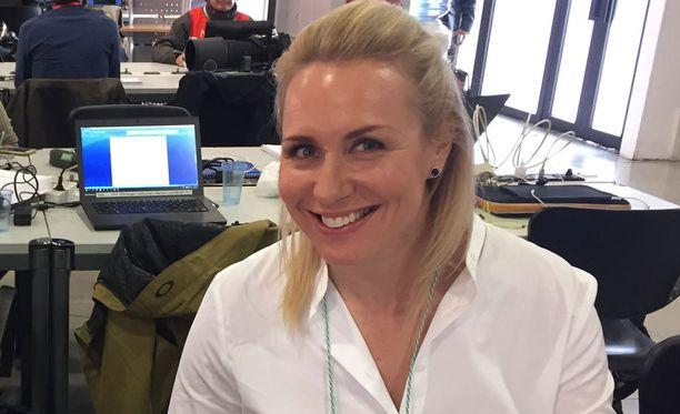 Mervi Kallio on toiminut F1:n varikkotoimittajana viime kauden alusta lähtien.