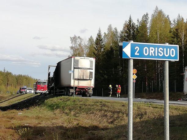 Onnettomuus sattui Loimaalla Varsinais-Suomessa.