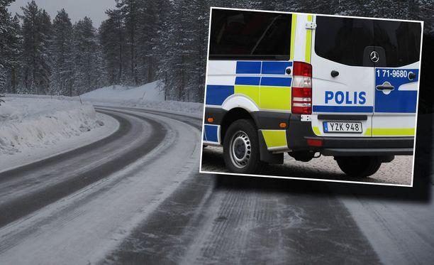 Epäilty pakeni Pohjois-Ruotsin Luulajaan, josta paikallinen poliisi otti hänet kiinni. Kuvituskuva.
