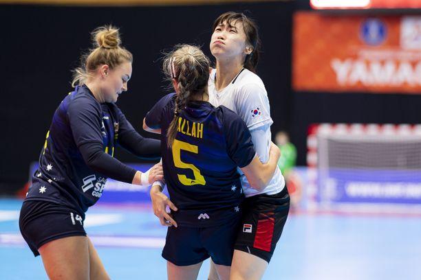 Australia hävisi alkulohkossa Etelä-Korealle 17–34.