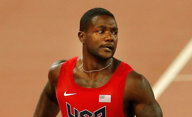 Justin Gatilin (kuvassa) on Usain Boltin ohella satasen suurin voittajasuosikki.