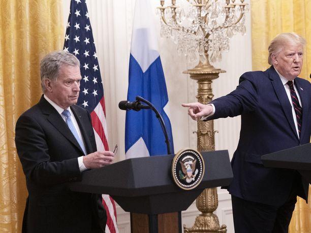 Presidentti Sauli Niinistö oli keskiviikkona työvierailulla Yhdysvalloissa, ja vierailua isännöi presidentti Donald Trump.