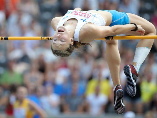Ella Junnila taivutti nuorten EM-pronssia Gävlessä. Kuva viime vuodelta.