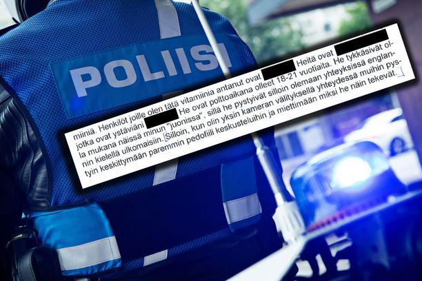 Keskusrikospoliisi kertoi poikkeuksellisesta seksuaalirikosvyyhdistä eilen. Yksi epäillyistä kertoi kiinnostuksestaan pedofiliaan huumetutkinnan yhteydessä. Kuvituskuva.
