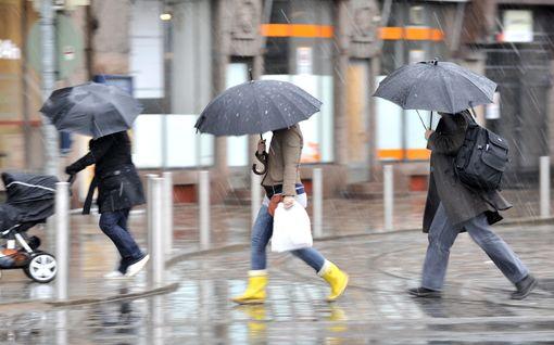 Sateet saapuvat lännestä – myös ukkoskuurot mahdollisia