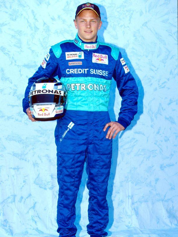 Kimi Räikkönen kuvattuna Australian Melbournessa 1. maaliskuuta 2001.