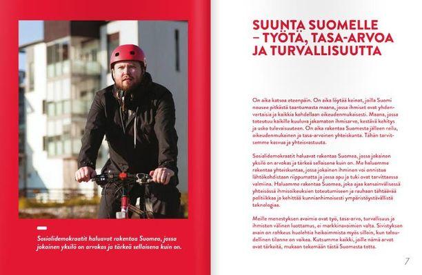 SDP lupaa osittain Virossa painetussa vaaliohjelmassaan lisää työtä suomalaisille.
