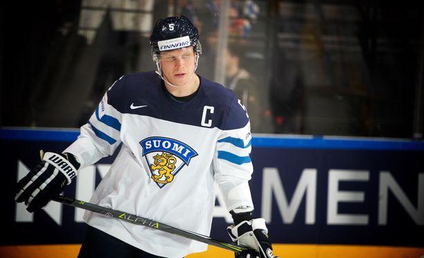 Lasse Kukkonen hyppäsi askiin Sveitsiä vastaan.