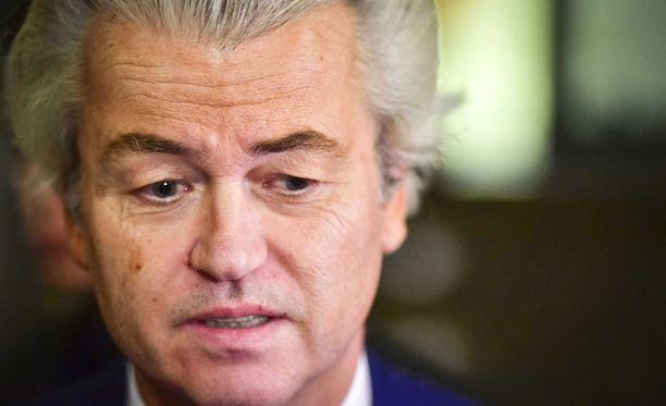 Vapauspuolueen johtaja Geert Wilders koki pettymyksen.