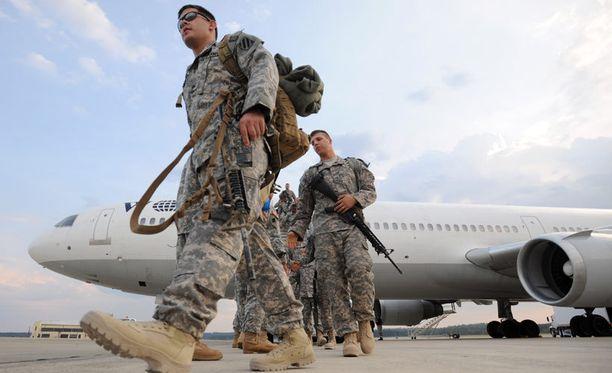 Amerikkalaisia sotilaita palaamassa Irakista kotiin syyskuussa 2010 Georgiassa.