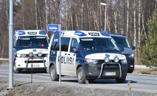 Poliiseja tarvittiin taas Oulun seudulla. Arkistokuva.