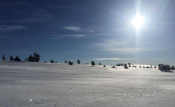Tämän talven pakkasennätys on Muoniossa mitattu 41,7 astetta. Kuvituskuva.