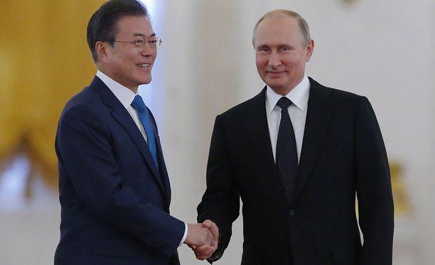 Etelä-Korean presidentti Moon Jae-in vierailee parhaillaan Venäjällä.