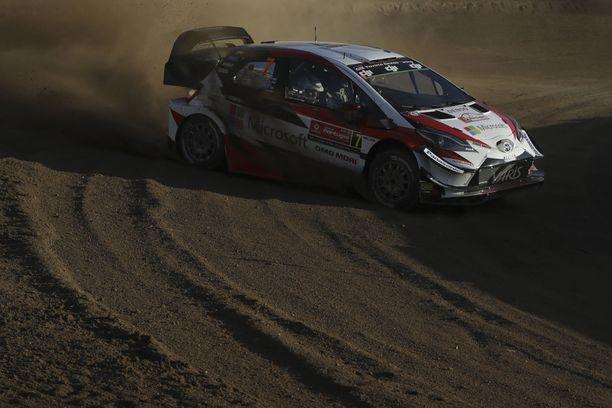 Ott Tänak on päässyt hyvin sinuiksi tälle kaudelle alle vaihtuneen Yaris WRC:n kanssa. Virolainen on MM-sarjassa kolmantena.