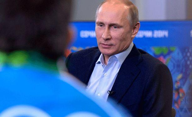 Vladimir Putinia tentattiin homojen oikeuksista.