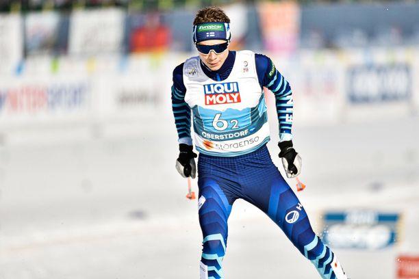 Eero Hirvonen ei saanut parastaan irti Oberstdorfin MM-kisoissa.